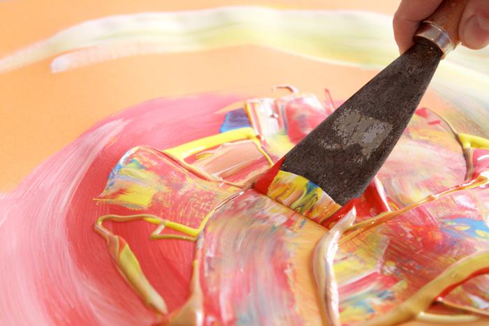 Kreativität, Kunsttherapie, Begegnung mit sich selbst, Experimentieren, Farben